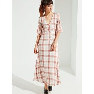 Urban Outfitters plaid maxi dress size XS
